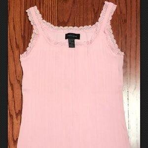 Cable & Gauge Pink Lace Strap Tank Top Size Small